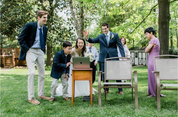 A Backyard Spring Elopement | Hope & Tim
