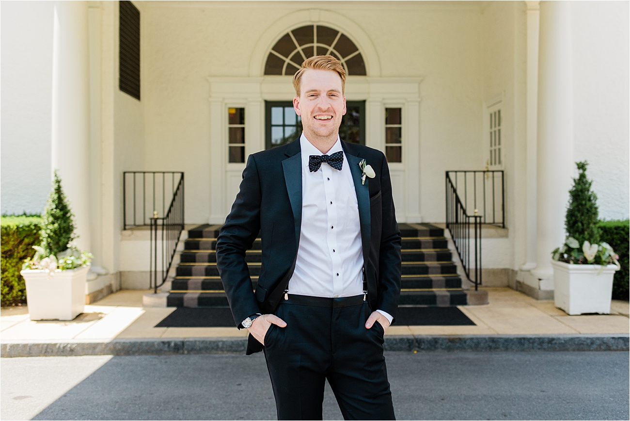Groom Portrait at Columbia Country Club