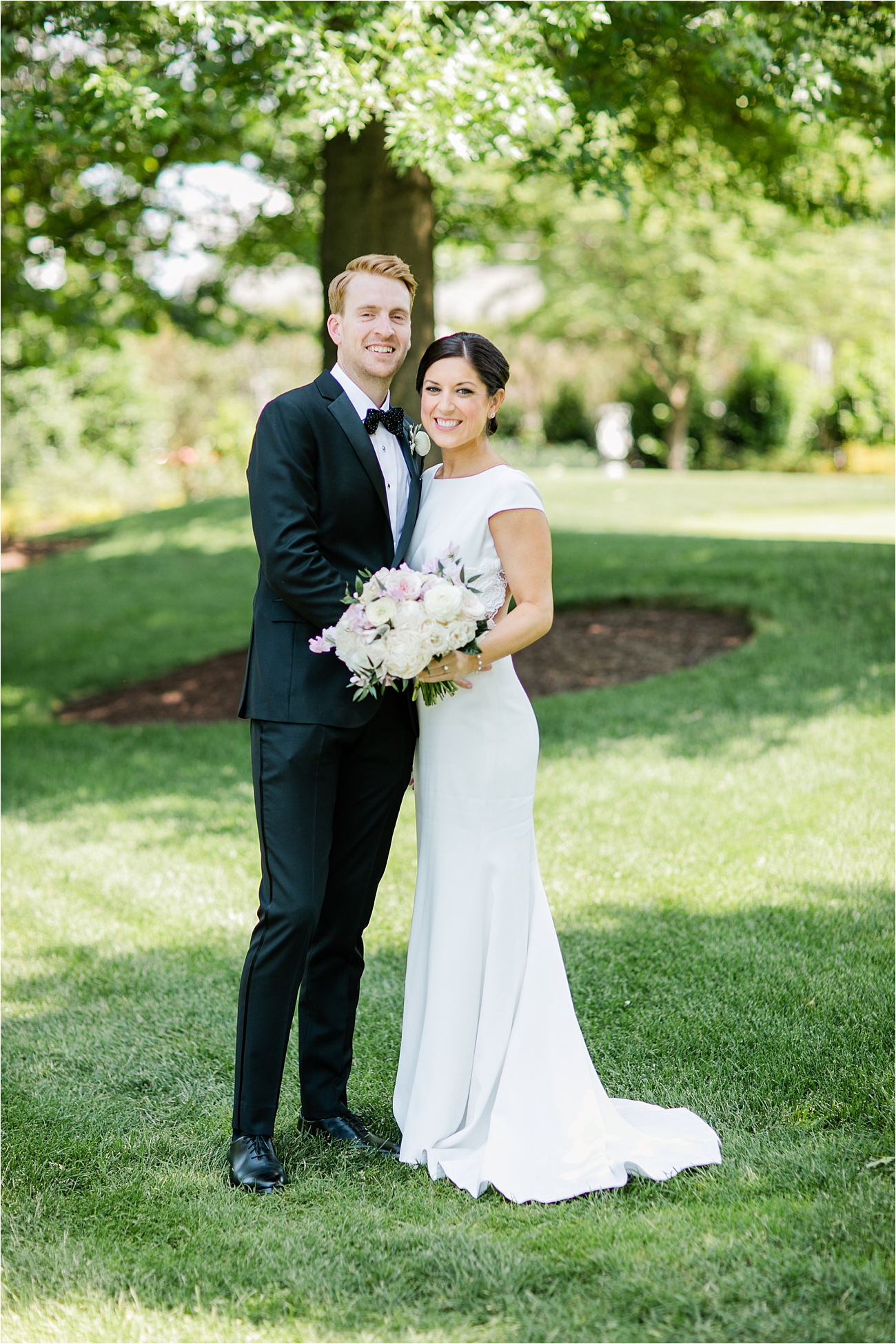 Bride and Groom Portrait at Columbia Country Club