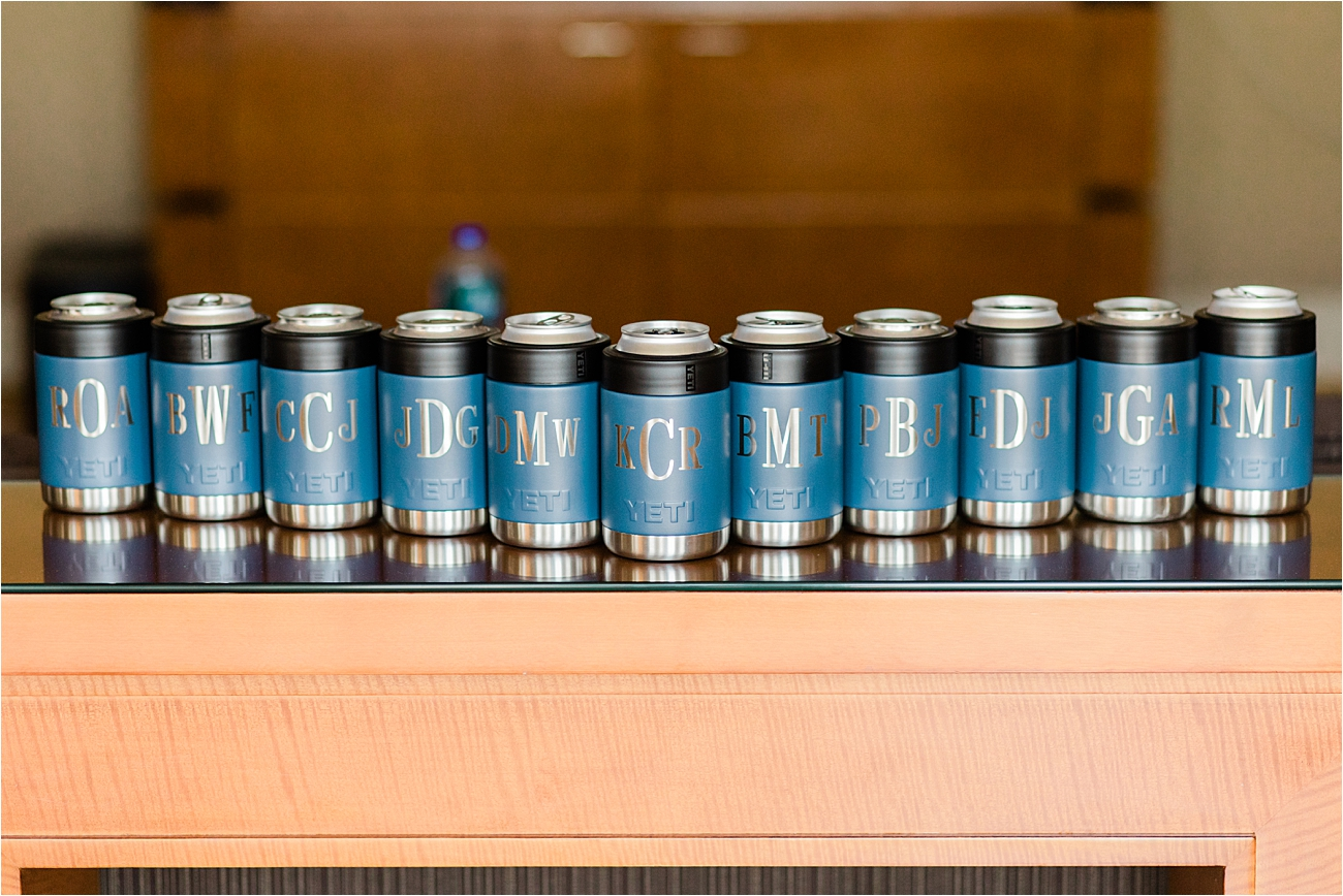customized Yeti beer coozie for bridal party gift