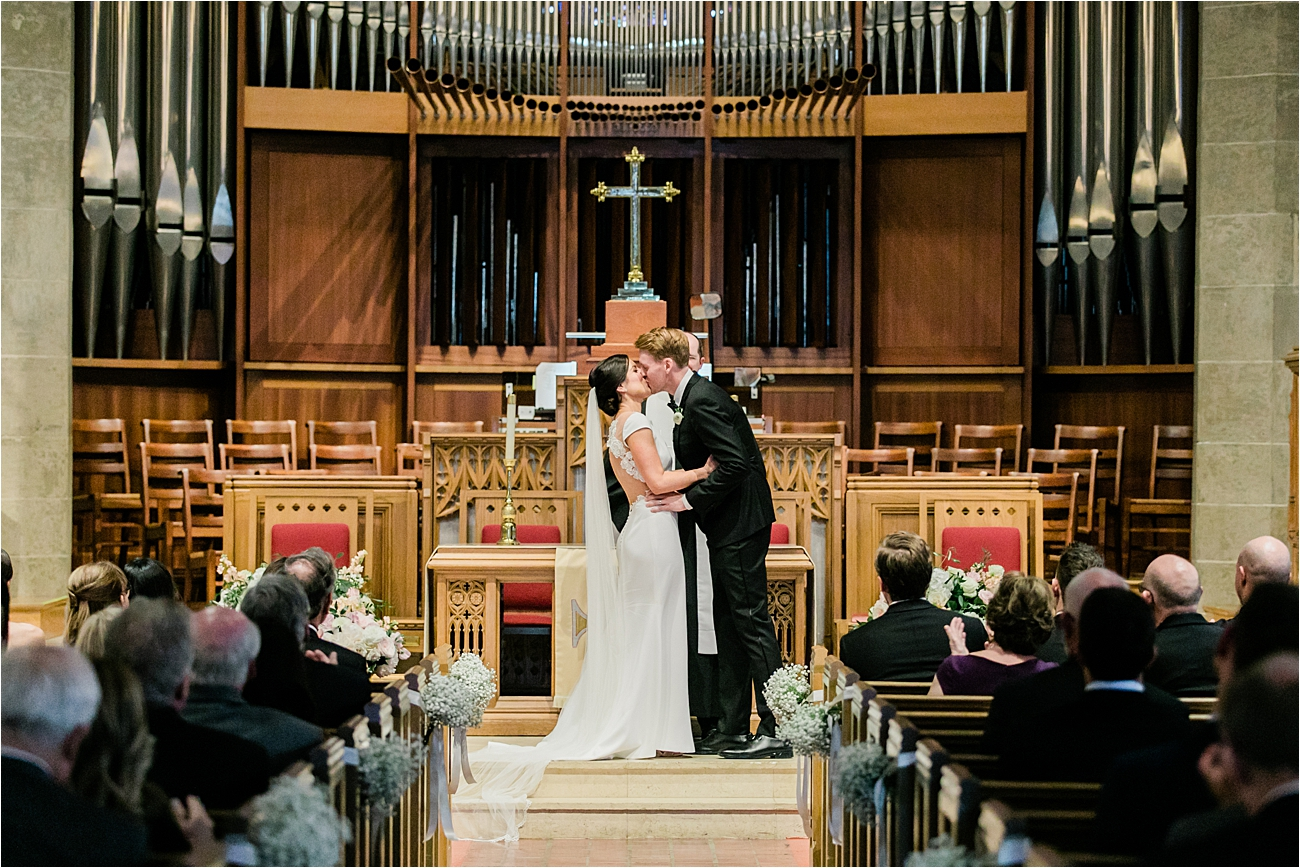Bride and Groom wedding ceremony at Chevy Chase Presbyterian Church
