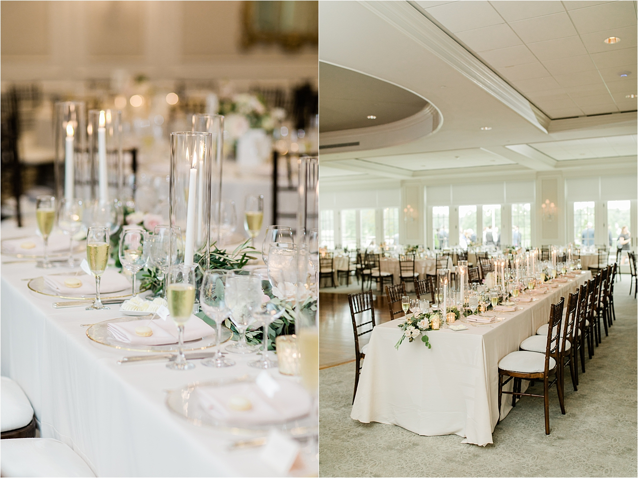 Wedding reception at columbia country club