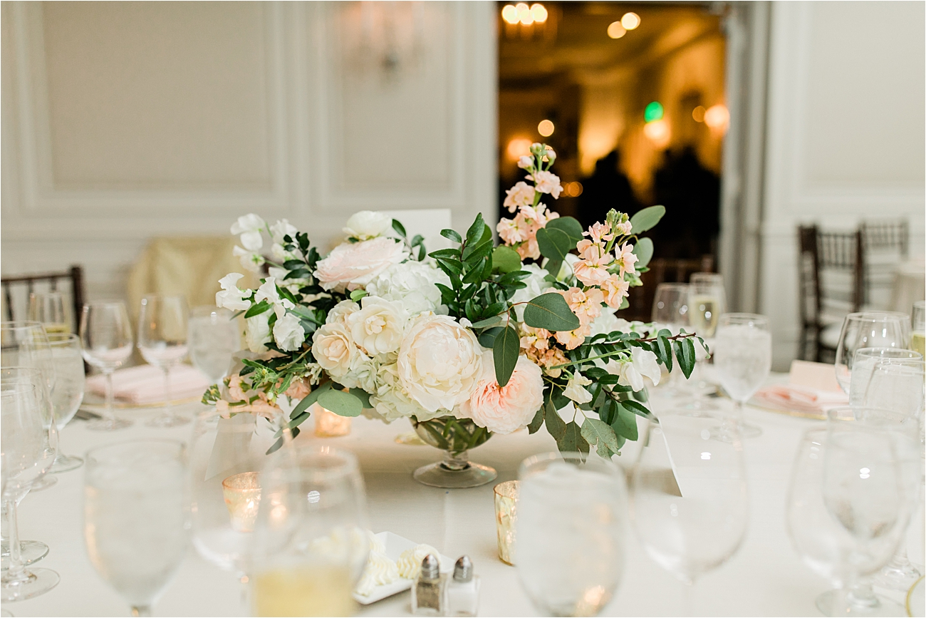 floral centerpiece wedding at columbia country club